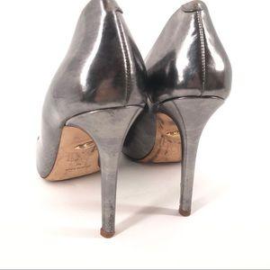 Diane Von Furstenberg Shoes - Diane Von Furstenberg Bethany Silver Pump Heel